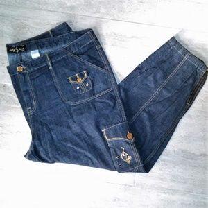 Baby Phat Plus Size 24 Cargo Jeans Black Label